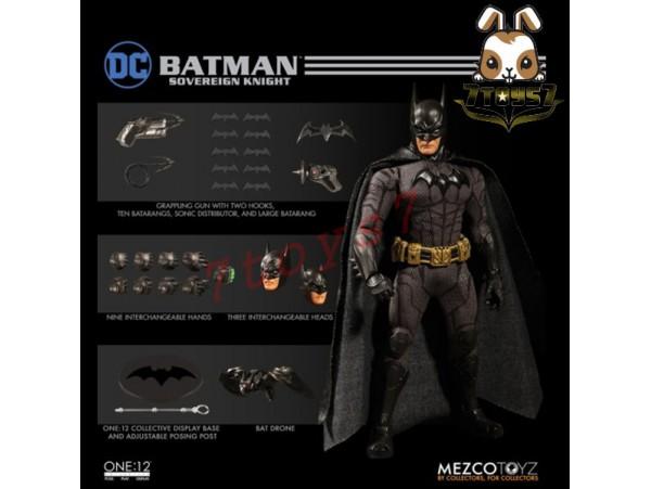 Mezco Toyz 1/12 One:12 Batman Sovereign Knight_ Figure Box Set _DC Now ME017Z