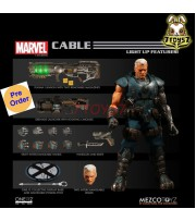 [Pre-order] Mezco Toyz 1/12 One:12 Marvel Cable_ Figure Box Set _light up Feature ME038Z