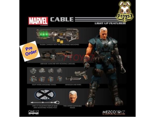 [Pre-order] Mezco Toyz 1/12 One:12 Marvel Cable_ Figure Box Set _light up Feature ME038Z