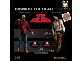 [Pre-order] Mezco Toyz 1/12 One:12 Dawn of Dead - Plaid Shirt & Flyboy Zombie_ Figure Set _ME025Z