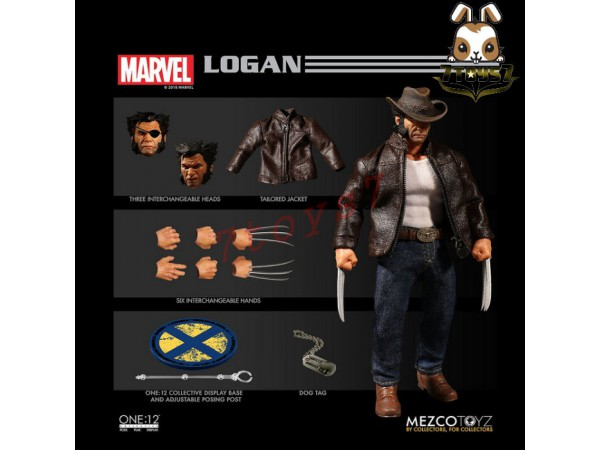 Mezco Toyz 1/12 One:12 Logan_ Figure Box Set _Marvel Now ME022Z
