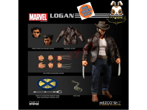 [Pre-order] Mezco Toyz 1/12 One:12 Logan_ Figure Box Set _Marvel ME022Z