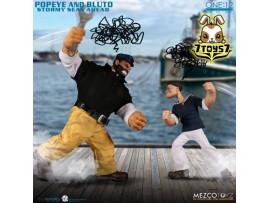 Mezco Toyz 1/12 One:12 Popeye & Bluto - Stormy Seas Ahead_ Deluxe Box _ME067Z