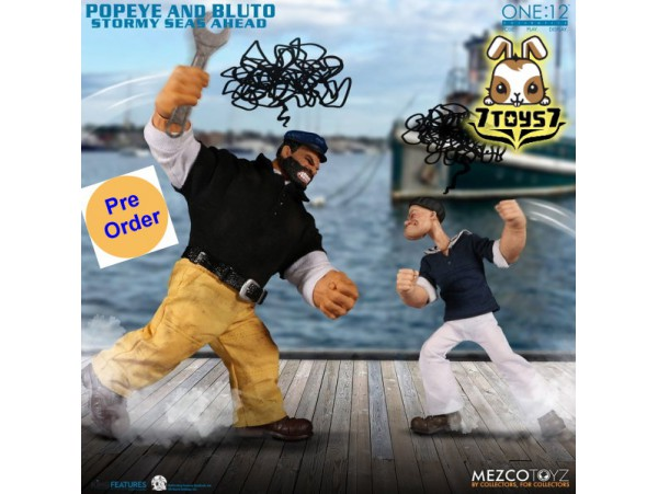 [Pre-order deposit] Mezco Toyz 1/12 One:12 Popeye & Bluto - Stormy Seas Ahead_ Deluxe Box _ME067Z