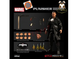[Pre-order] Mezco Toyz 1/12 One:12 Punisher_ Figure Box Set _Marvel Netflix ME019Z