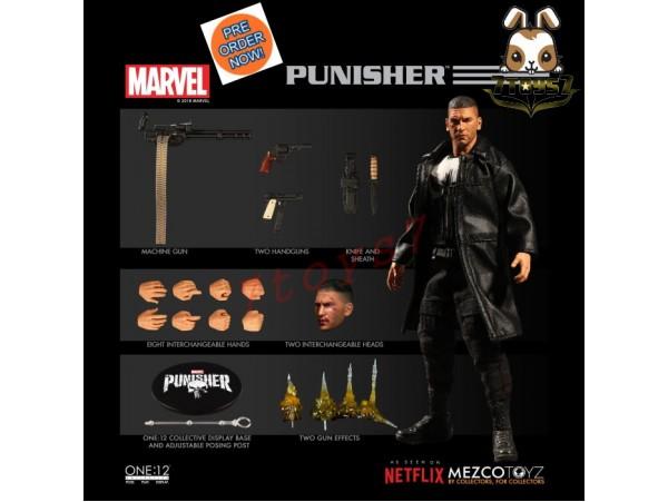 [Pre-order] Mezco Toyz 1/12 One:12 Punisher_ Figure Box Set _Marvel Netflix ME019Z