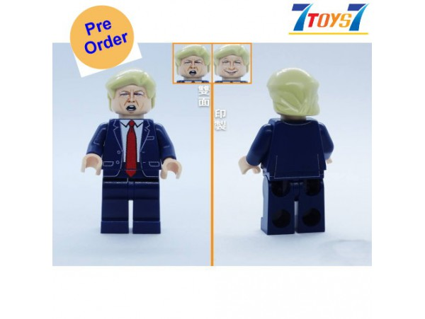 [Pre-order deposit] Minfinity Bricks MF074 Minifigures: LeaderTrump_ figure _MM010B