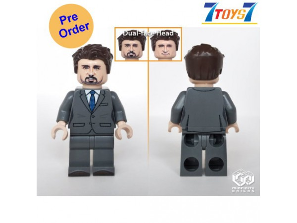 [Pre-order deposit] Minfinity Bricks MF121 Minifigures: Leader Trudeau_ figure _MM010I