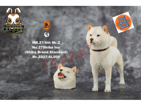 [Pre-order] Mr. Z 1/6 MRZ027 Real Animal Series No.27 Japanese shiba Inu_ 005 Dog w/ collar Set _MRZ026B