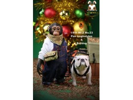 Mr. Z 1/6 MRZ023 Real Animal Series No.23 Chimpanzee and Bulldog_ Statues Set _MRZ019Z