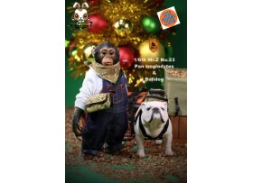 [Pre-order] Mr. Z 1/6 MRZ023 Real Animal Series No.23 Chimpanzee and Bulldog_ Statues Set _MRZ019Z