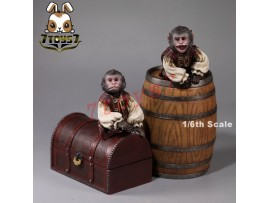 Mr. Z 1/6 Pirate Monkey, Barrels & The Treasure Chest_ Set _Now MRZ011Z