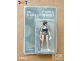 Planet Green Valley 1/18 Basic Figure_ Black Vest Set w/ Costume _Now OU004A