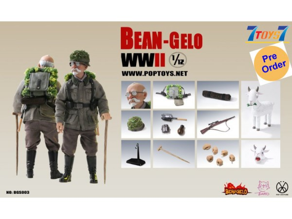 [Pre-order deposit] PopToys 1/12 BGS003 Bean Gelo Series: Sniper Geezer - Weber_ Box set _PT109C