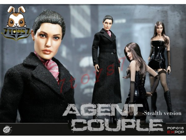 PopToys 1/6 EX018 Agents Couple - Mrs. Smith_ Stealth Version Box Set _Now PT077Z