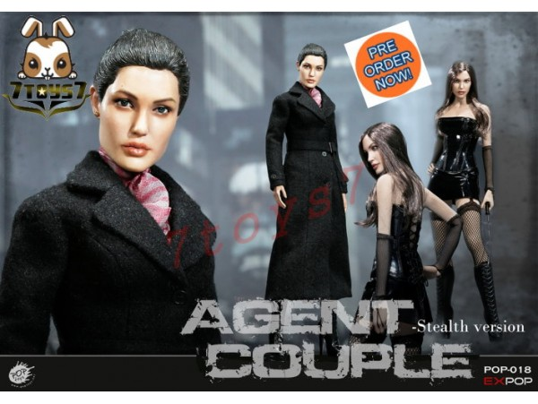 [Pre-order] PopToys 1/6 EX018 Agents Couple - Mrs. Smith_ Stealth Version Box Set _PT077Z