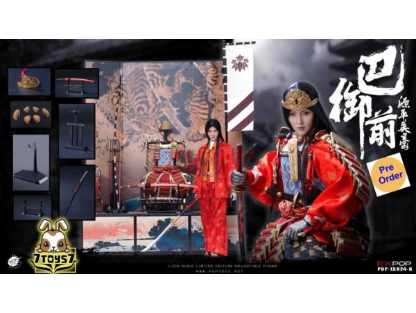 [Pre-order deposit] PopToys 1/6 EX024B The first beauty female general of Japan Genpei heroine - Tomoe Gozen_ Box Set _Now PT094Y