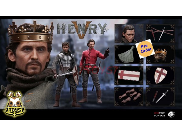 [Pre-order] PopToys 1/6 EX22 King Henry V of England_ Box Set _PT090Z