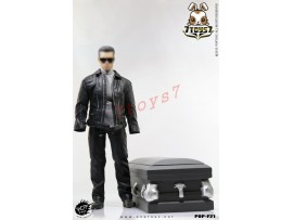 PopToys 1/6 F21 Robot w/ wooden Coffin Leather Coat Suits_ Set_T800 Movie PT044Z