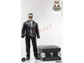 PopToys 1/6 F21 Robot w/ wooden Coffin Leather Coat Suits_ Set_T800 Movie PT044Z