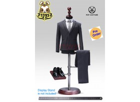 [Pre-order] PopToys 1/6 X28C Western-style clothes stripped suit_ Gray Set _PT087C