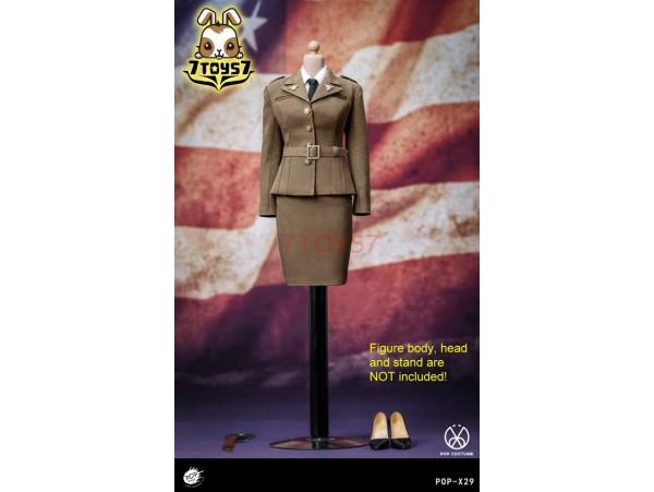 PopToys 1/6 X29 WWII US Army Female Agent Uniform_ Set _Now PT104Z