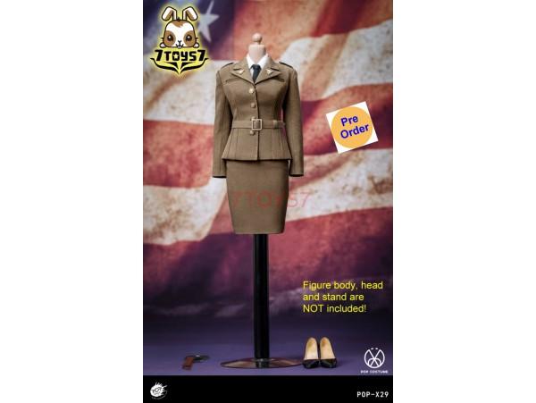 [Pre-order deposit] PopToys 1/6 X29 WWII US Army Female Agent Uniform_ Set _PT104Z