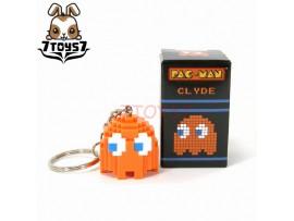 Pure Arts Pac-Man Ghost Clyde Orange Arcade Game Bandai Namco_ Keychain _PU003G