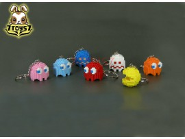 Pure Arts Pac-Man Arcade Game Bandai Namco_ Keychain Set / 7 _Now PU003Z