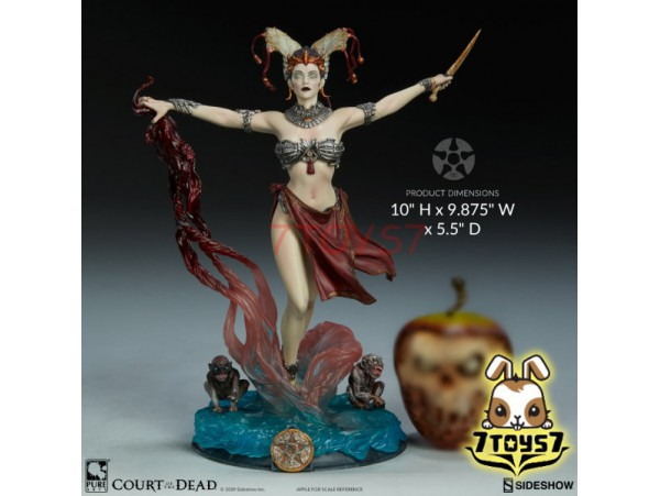 """Sideshow 10"""" Court of the Dead - Gethsemoni: Queens Conjuring PVC_ Statue _Now SS077X"""