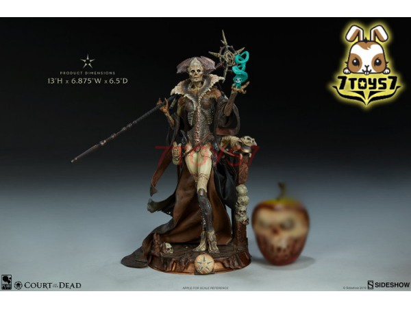 "Sideshow 13"" Court of the Dead - Xiall - Osteomancers Vision PVC_ Statue _Now SS077Z"