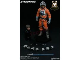 Sideshow 1/6 Star Wars Luke Skywalker Rogue Group Snowspeeder Pilot_ Box _SS055Z