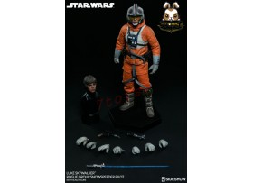 Sideshow 1/6 Star Wars Luke Skywalker Rogue Group Snowspeeder Pilot_ Box _SS055Z