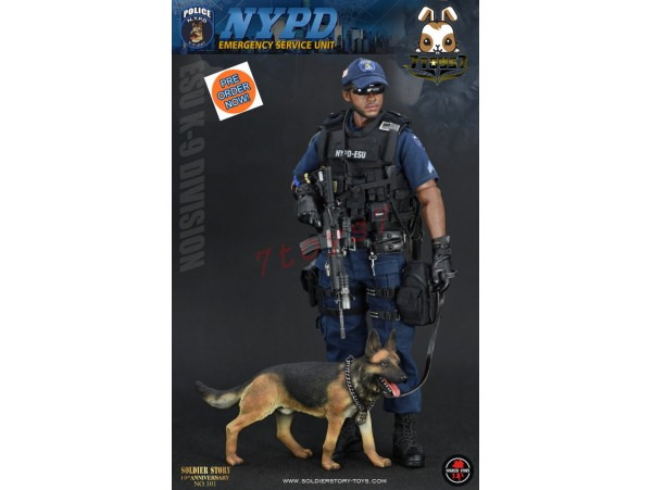 [Pre-order] Soldier Story 1/6 SS101 NYPD ESU K9 Division_ Box Set _SR059Z