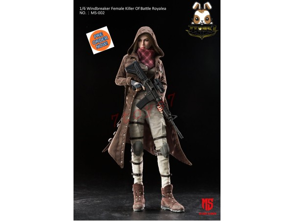 [Pre-order] Star Man 1/6 Windbreaker Female Killer of Battle Royale_ Box Set _ZZ163A