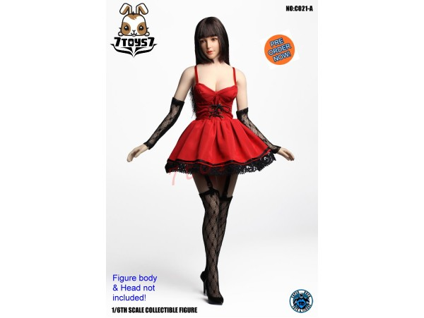 [Pre-order] Super Duck 1/6 CO021A Sexy Dress Suit_ Red Set _ SD055A