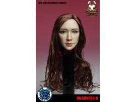 Super Duck 1/6 SDH003B Brown rooted long hair Female_ Head _Now SD033B