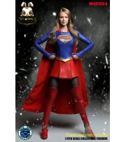 Super Duck 1/6 SET013A Supergirl_ Costume Set w/ Head _Cosplay Now SD038A