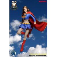 Super Duck 1/6 SET013B Supergirl_ Costume Set w/ Head _Cosplay Now SD038B