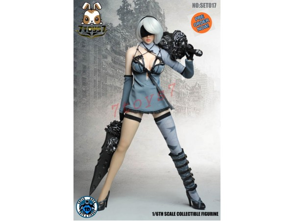 [Pre-order] Super Duck 1/6 SET017 NieR: Automata YoRHa No.2 Typ B_ Sets with Head_ SD042C