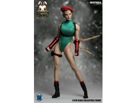 Super Duck 1/6 SET033A Fighting Girls Cosplay_ Green Costume w/ Head Set _SD060A