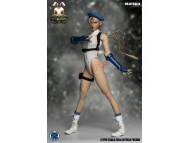 Super Duck 1/6 SET033B Fighting Girls Cosplay_ White Costume w/ Head Set _SD060B