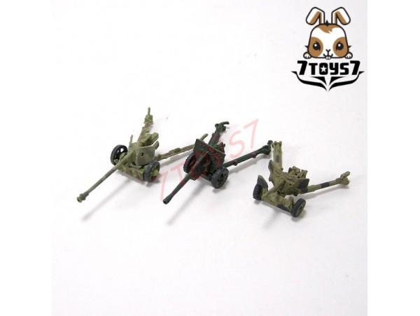 Takara 1/144 WTM 07 #138_ Set 3 Anti-Tank Guns_German Russia Britain WWII TTX24U