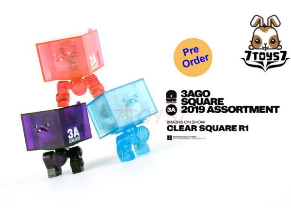 "[Pre-order] 3A ThreeA 3"" 3AGO Square 2019 Assortment: Clear Square R1_ Set _3A412Z"