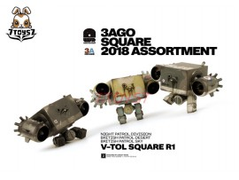 ThreeA 3A 1/6 3AGO 2018 Assortment V-TOL Square_ Box Set _Ashley Wood 3A388Z