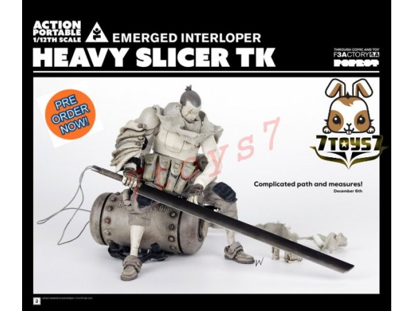 [Pre-order] 3A ThreeA 1/12 Action Portable - Heavy Slicer TK Emerged Interloper_ Figure Set _ Ashley Wood 3A374B