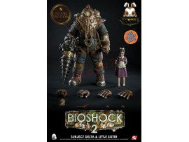 [Pre-order] Threezero 1/6 BIOSHOCK 2 Subject Delta & Little Sister + Big Daddy Plush Doll_ Deluxe Box Set _3A378Y
