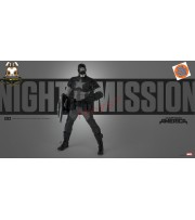 [Pre-order] 3A ThreeA 1/6 Marvel Night Mission Captain America_ Box Set _Retail version 3A370Z