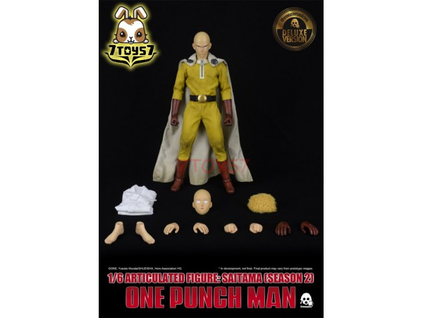 Threezero 1/6 One-Punch Man - Saitama (Season 2)_ Deluxe Box Set _Now 3A418Y