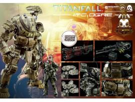 Threezero Titanfall IMC Orge w/ Pilot_ Exclusive Box Set w/ ARC Cannon _3A302Z